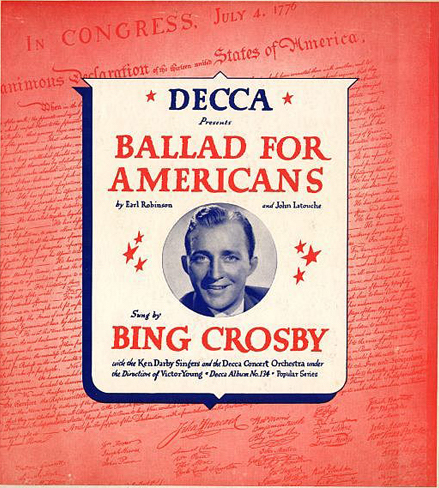 Bing Crosby's Ballad for Americans LP.