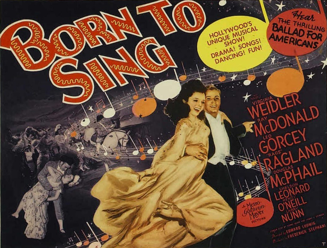 "Poster for the movie ""Born to Sing,"" which features Ballad for Americans."