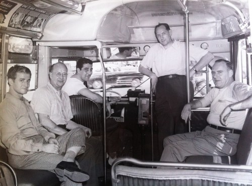 Cimillo with detectives on bus
