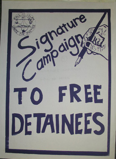 Free Detainees Poster